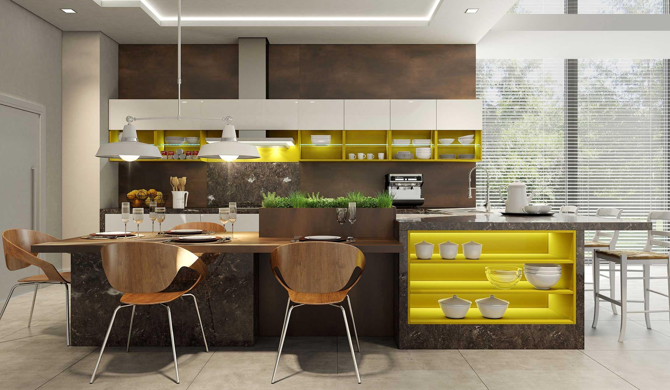 Cozinha Gourmet Planejada Cozinha Portas Espelho With Cozinha